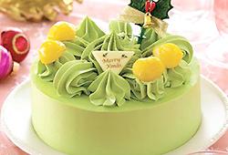 辻利抹茶のクリスマスケーキ