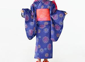 女児2点セットゆかたise-kata-gallery 花火紺
