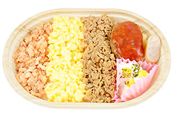 3色のそぼろお弁当