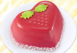 大きないちごのムースケーキ