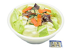 Wガラスープの野菜盛りタンメン